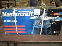"""Mastercraft 10"""" table saw for sale"""