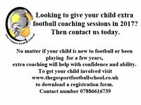 The Gosport Football School, coaching football for children aged from 6 to 16 .