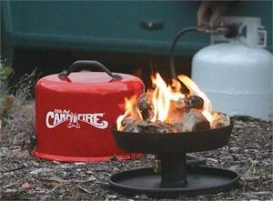 "CAMCO ""LITTLE RED CAMPFIRE"" PORTABLE PROPANE CAMP FIRE"