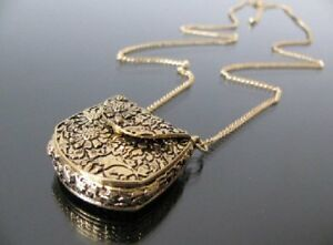 ONE of A KIND---Beautiful Opening PURSE Necklace