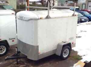 5x8 Enclosed Trailer with racks