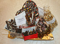 Gourmet Chocolate Pizza's.  Great Christmas Ideas.