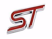 Red metal self adhesive Ford ST badge emblem