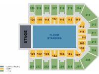 2 x Nickelback Tickets Sheffield Arena Saturday 15th October Great Seats Block 102