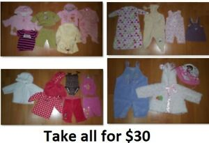 3-6 Mths Baby Girl Clothing Lot 2 (Take 21 Pieces for $30)