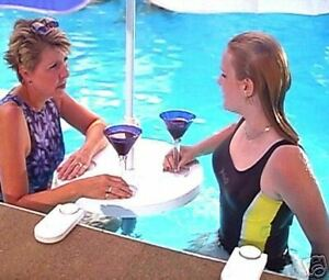 POOLBAR BAR IN SWIMMING POOL TABLE STOOL OR DECK MOUNTABLE