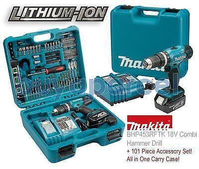 makita 18v drill set ebay. Black Bedroom Furniture Sets. Home Design Ideas