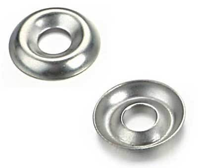 100 14 Nickel Plated Countersunkcup Finishing Washers