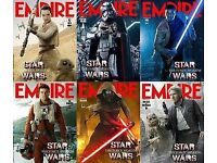 Set of 6 EMPIRE MAGAZINE COVERS - LENTICULAR STAR WARS THE FORCE AWAKENS