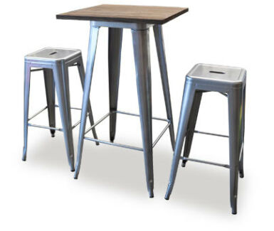 Tolix Wooden Top Bar Table - 3 sizes Osborne Park Stirling Area Preview