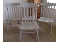 Pine farmhouse dining chairs