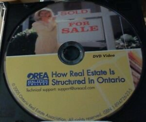 Ontario Real Estate DVD/CD's for the OREA course