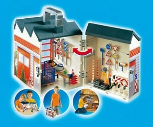 w .. Playmobil ; Construction, Camion, grue