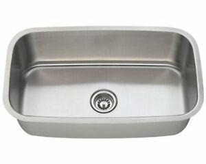 Large Single Bowl undermount Stainless Steel Sink