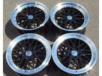 """18"""" BBS LM Black/Polished 5x112 alloy wheels, brand new and never used. All 4 are 9j deep dish."""