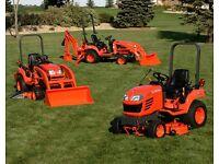 Wanted Kubota Tractors and Mini Diggers