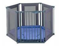 Lindam Safe & Secure Fabric Playpen. ***Barely used!!* £45.00