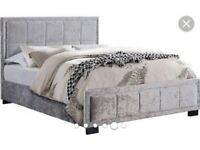 Hannover crushed velvet bed
