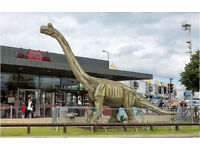 Life Sized Animatronic BRACHIOSAURUS Jurassic Park Dinosaur Moving Robot Statue - Business For Sale