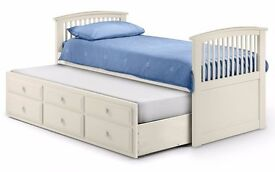bed with guest bed wood kids cabin Julian Bowen - Hornblower White