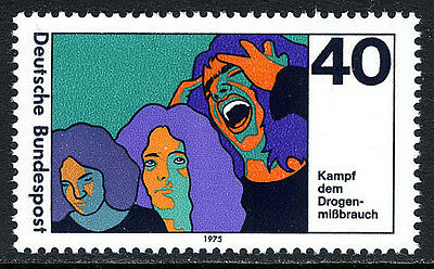 Germany 1200, MNH. Fight against drug abuse, 1975