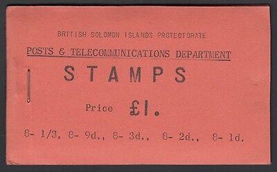 BRITISH SOLOMON Islands, 1960. Stamp Booklet 1 Pound, - SB4, Mint **