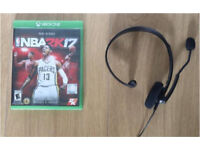 Xbox one NBA 2k 17 and headset