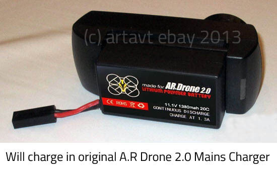 2300mah big upgrade replacement battery for parrot ar drone 2 0 ebay. Black Bedroom Furniture Sets. Home Design Ideas