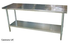 "Commercial Catering Table Stainless Steel Work Bench Surface Shelf 24"" x 60"""