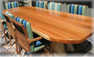 Deep Forest Furnishings one of a kind tables