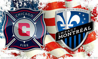 2x Impact Montreal VS Chicago Fire Section 107 Rangée 3