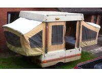 coleman dakota trailer tent, 1980 , 5 birth, hard top
