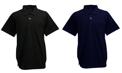 Mens Big Size Polo Shirt 2 Pack Navy Black Short Sleeve King Size Plus Menswear