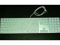 Apple Mac Original!Wired Usb Keyboard with x2 Usb Ports