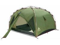 Vaude Power Space iii strong two person tent, aluminium poles and two porches +groundsheet