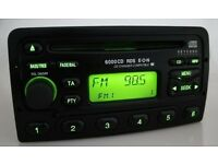 Ford 6000 Stereo Radio CD Player - Fits Mondeo Focus Fiesta Puma Transit KA - Fitting Included!