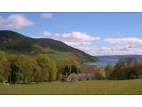 Three bedroom Cottage overlooking Loch Ness near Drumnadrochit( 1/2 mile), oil fired central heating