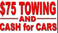 $$$ $75.00 TOWING IN CITY + CASH 4 JUNK CAR   403-629-3504$$$