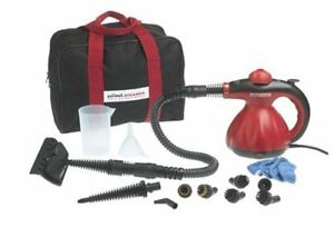 SCUNCI HAND HELD STEAM CLEANER + ALL ATTACHMENTS + BAG