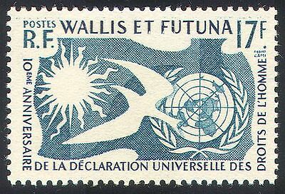 Wallis & Futuna 1958 Human Rights/Dove/Sun/UN/Animation/Birds 1v (n33213)