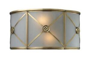 Elk 22000/2 Preston 2-Light Sconce In Brushed Brass