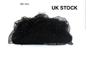 UK-Satin-Lace-evening-clutch-wedding-prom-bridal-bag-purse-8rrb-Express-Delivery