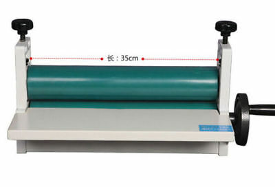 New 14 350mm Manual Cold Laminator Laminating Machine