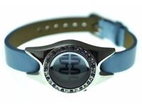 1657x Watchout Ladies Leather Blue Strap Digital Watch 606601 WHOLESALE JOBLOT