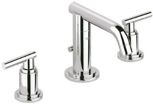 Grohe 20 072 000 Atrio Low Spout Wideset Lavatory Faucet, StarLight Chrome