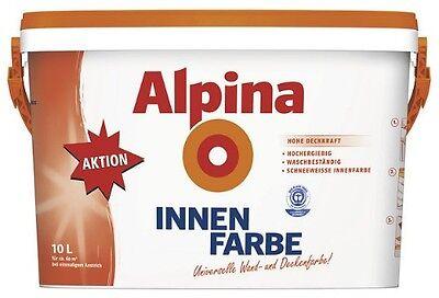 Alpina INNENFARBE, 10 L., weiss, matt, universelle Wandfarbe 2,25 €/L., NEU