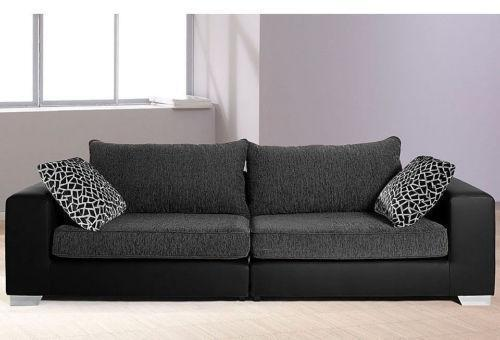 mega sofa sofas sessel ebay. Black Bedroom Furniture Sets. Home Design Ideas