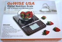 GoWISE USA Multifunction Slim Digital Kitchen Nutritional Scale