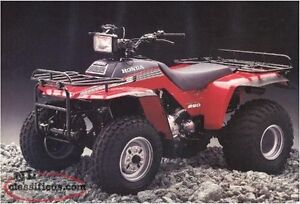 LOOKING for 1986 Honda 250 fourtrax for parts