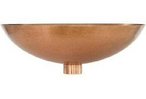 "Global Views Hammered Antique Copper Indira Water Bowl #7.90448 13"" Diam x5""Deep"